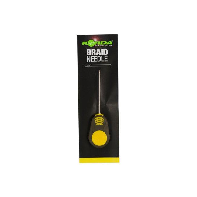 Korda Braided Hair Needle 7cm yellow handle